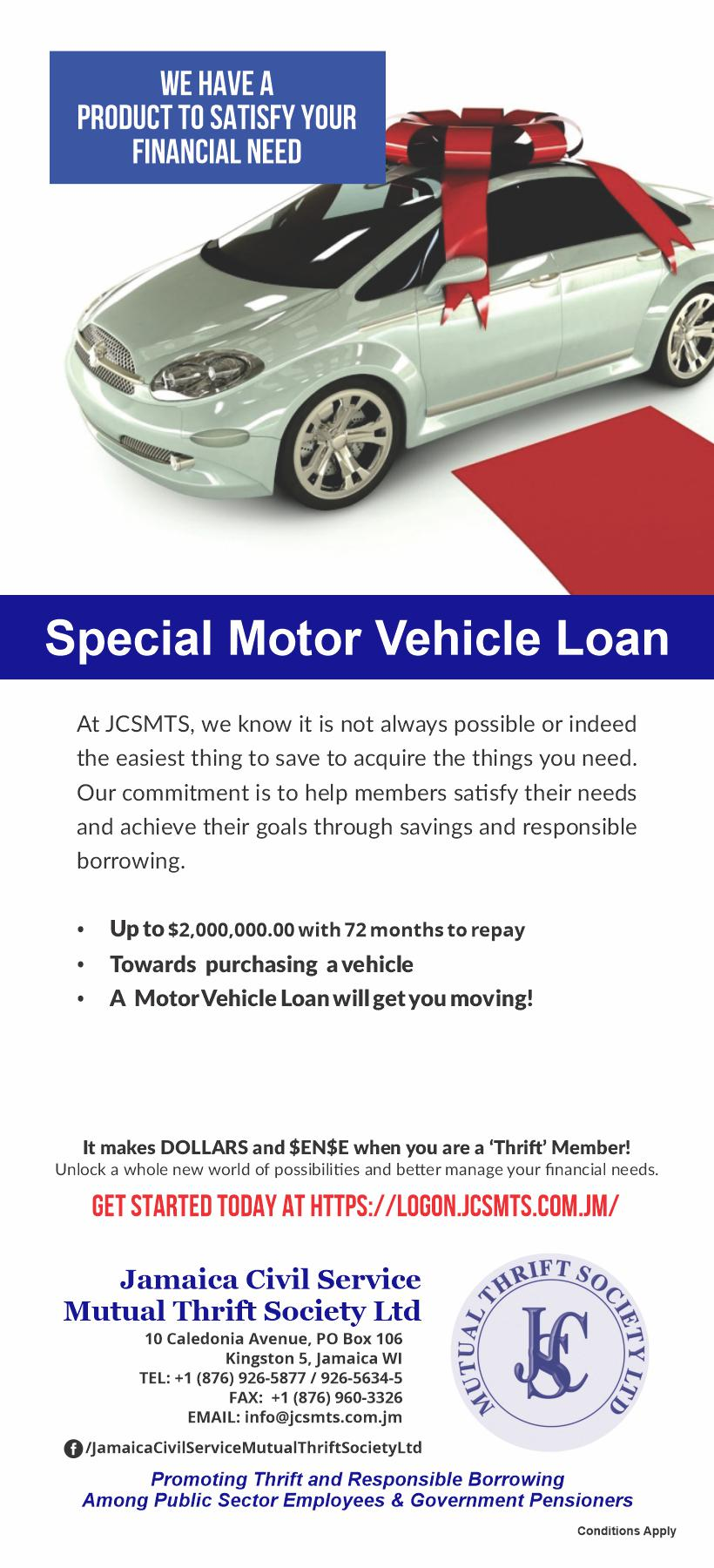 Motor Vehicle Loan - JCSMTS